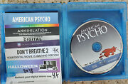 3x 4k Codes For American Psycho + Halloween 2018 + Annihilation With Ap Blu-ray