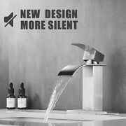 Waterfall Bathroom Sink Faucet Single Handle Basin Lavatory Mixer Tap With Cover