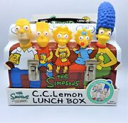 The Simpsons C.c.lemon Lunch Box Novelty Limited Tin Metal Gift Case Collectible