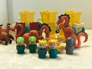 Rare Vintage Fisher Price Little People Castle Accessories And Parts Lot
