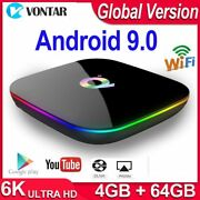 Q Plus Smart Tv Box Android 9.0 Tv Box 4gb Ram 32gb/64gb Rom Quad Core H.265