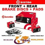 Brembo Front + Rear Brake Discs + Pads For Saab 43960 2.8 Turbo V6 Xwd 2010-2012