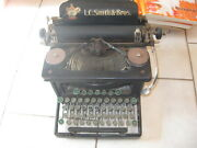 Lc Smith And Bros Corona Manual Typewriter Vintage 1910-1925 Black No. 8 / 10 In