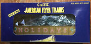 American Flyer 6-48335 S Scale 1997 Holiday Gondola W/ Christmas Tree Load New