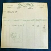 1941 Lily Mills Co-shelby Nc-sewing Threads-adlerand039s Dept Store-martinsville Ind