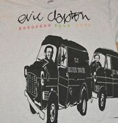 1995 Eric Clapton Vtg Rare Rock Concert Tee T-shirt Xl 80and039s 90and039s Euro Tour