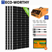 1kw 2kw Solar Panel Kit Complete Solar System With Lifepo4 Battery 3kw Inverter
