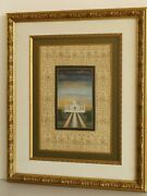 Mughal Miniature Painting Of Taj Mahal With Framed Finest Gold And Gouache Art