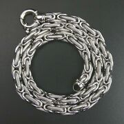 18 Ct White Gold Birdcage Link 17 Chain Necklace - 38 Grams