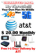Unlimited 4g Lte Data Plan By Atandt - 20 Per Month Hotspot - Your Own Account