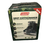 Coleman Black Camping Drip Coffee Maker 10 Cup Filter Basket Brand New Open Box