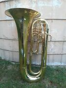 King 1151 Ultimate Professional Series Bb Marching Tuba W/case And Mouthpiece