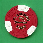 100 Vintage 1980's Card Room / Casino / Illegal Chips - 5.00 - Flamingo East