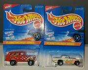 Lot Of 2 Hot Wheels Flamethrower Series 386 And03995 Range Rover 384 And03957 T-bird