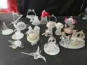 Vintage Clear Spun Glass Group Figurines 18