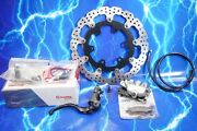 Supermoto Brake Upgrade - Compete 320mm Front Rotor Caliper Master And Line Kit