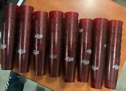Coke Coca Cola Restaurant Ruby Red Plastic Tumblers Cups Faded Logo Lot Of 52