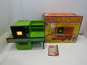 Vintage 1973 Betty Crocker Easy-bake Oven By Kenner Products Avacado Green Works