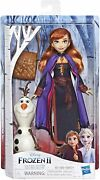 Disney Hasbro Frozen 2 Storytelling Doll Anna Olaf Figure And Backpack Figures