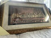Nice Vintage Metal The Last Supper Religious Picture Wall Plaque