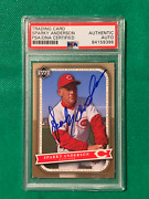 Mlb Sparky Anderson Autographed Card Psa