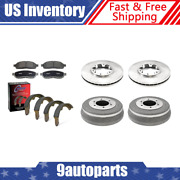 For 2000-2004 Xterra Brake Rotors And Ceramic Pads + Brake Drums And Shoes