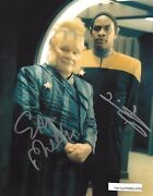 Star Trek Voyager Ethan Phillips And Tim Russ Hand Signed Colour 8x10 Photo Coa