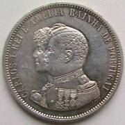 Portugal1000 Reais1898 Discovery Of India Silver Save Mintage Period 1836 - 1910