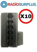 10 X Motorola Oem 6 Way Charger For Ht750 And Ht1250 Series Of Radios Hnt9005