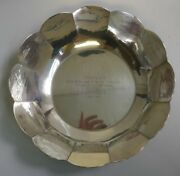 Arts And Crafts Rick Barry Sterling Silver Trophy Bowl 1974 - Model 241