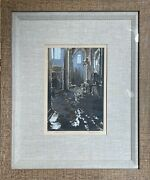 Marco Sassone Flood Of Florence S/n Serigraph On Arches Paper Deluxe Framing