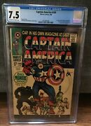 Captain America 100 Cgc 7.5 Ow To White Pages 1st Issue Black Panther Appear