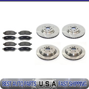 For 2007-09 Mercedes-benz Gl450 Front + Rear Brake Rotors And Metallic Brake Pads