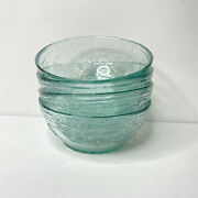 Rare Coca Cola Serving Cereal Bowls Recycled Green Glass Set Of 4 Brand New