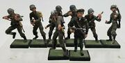 Miniature World War Ii Figurines 7x American 1x French Soldiers Hand Painted Lot