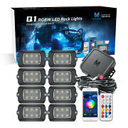 Mictuning Q1 Rgbw Led Rock Lights 8 Pods Underglow Offroad Neon For Pickup Auto
