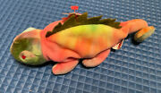 Ty Beanie Baby Collection 1997 6th Generation Iggy With Tag Rare Rainbow Tie-dye