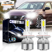 9008 Led Headlight Bulbs Kit For Ford F150 High Low Beam 6000k White