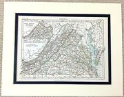 1878 Antique Map Of Virginia The United States Of America Usa South Western Us