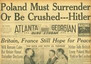 Hitler - Poland Must Surrender Britain And France Hope For Peace August 25 1939