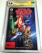 Cgc 9.8 Ss Star Wars Episode I The Phantom Menace 1 Signed By Mcgregor And Park