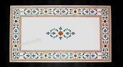 30 X 60 Inches Marble Patio Dining Table Top With Heritage Art Conference Table