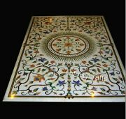 30 X 60 Inches Marble Dining Table Top With Heritage Work Restaurant Table