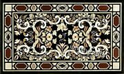 30 X 60 Inches Marble Lawn Table Top Black Dining Table Vintage Art And Crafts