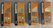Lot Of 4 Bostitch 2-1/2 In. 15 Ga. Angled Strip Finish Nails, 1000 34 Degrees