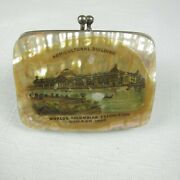 1893 Chicago Worlds Fair Columbian Exposition Mother Of Pearl Shell Coin Purse