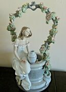 Lladro A Wish For Love 6562 Mint In Box Vintage Retired In 2005 Agua De Flores