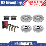 For 2007-2008 Gmc Sierra 1500 Brake Rotors And Ceramic Pads + Brake Drums And Shoes
