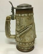1981 Space Shuttle Beer Stein Commemorative Ceramarte By American Heritage Co.