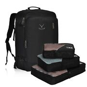 Hynes Eagle 38l Travel Backpack Carry On Luggage Weekender Bag With Packing Cube